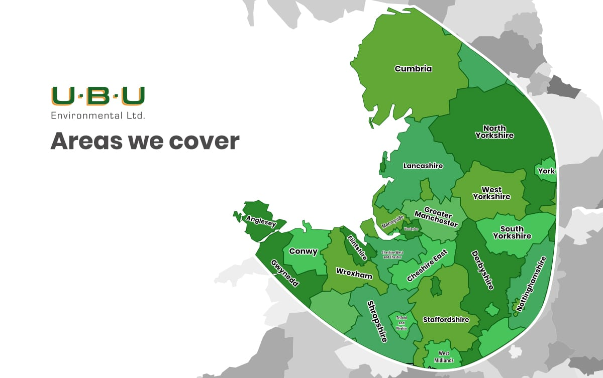 UBU Areas we provide service for