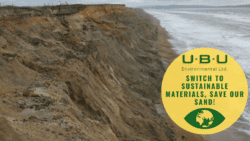 Switch to sustainable materials, protect our sand!